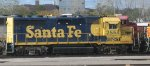 A stored BNSF ex Santa Fe GP35 at Northtown yard in Mpls MN in Oct 2012.