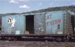 Great Northern 40 box car in Minneapolis MN in 1979.