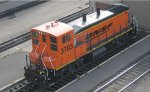 An active BNSF MP15AC at Northtown yard in Mpls MN in Oct 2012.