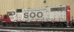 Soo Line GP40-2 in St Paul MN yard in Jan 2013.