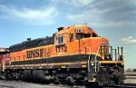 BNSF SD9 at Mpls MN Northtown yard in 2007.