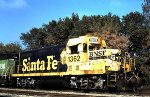 A Santa Fe GP7 chop nosed rebuild in St Paul MN in 2002.