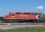 "A CP Rail ""PacMan"" SD40-2 working hard in 2011 in Mpls MN."