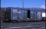 GN box car in St Paul Daytons Bluff CBQ yard after the BN merger in 1984.