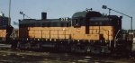 A Milwaukee Road RSD Alco at Southtown engine house in Mpls MN in 1972.