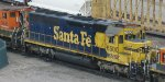 Santa Fe SD45-2 at Northtown in Sept 2008 in Fridley Mpls MN.