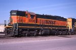 A BNSF SD9 in Mpls MN in 2002.
