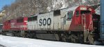 Soo Line SD60 in St Paul on the CP Rail in 2011.
