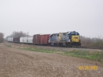 CSX 1507 sitting with J777 on the siding on the Crawforsville Secondary