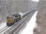 CSX 4502 & ICE 6410 work hard as they lift K644-03 up the hill
