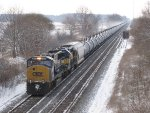 K644 makes track speed eastbound behind CSX & ICE power