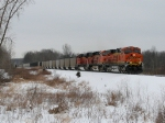 Beginning its trip up the Grand Rapids Sub, BNSF 6385 leads N903-12