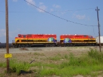 KCSM 2504 2503 KCS Shreveport Yard