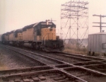 """""""QX"""" Interlocking. The single track line crossing the CNW is the BN's exCB&Q branch to Rock Falls,IL."""
