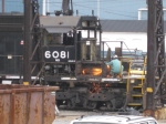 A worker works on NS 6081