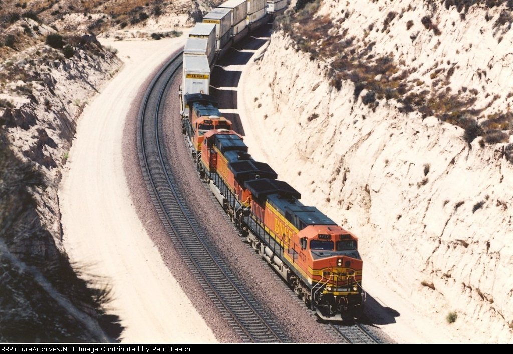 Stack train nears end of uphill climb
