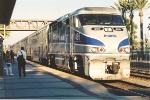 Westbound Surfliner makes stop