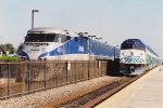 Surfliner eases past the Coaster