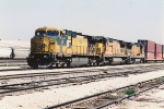 Parked stack train