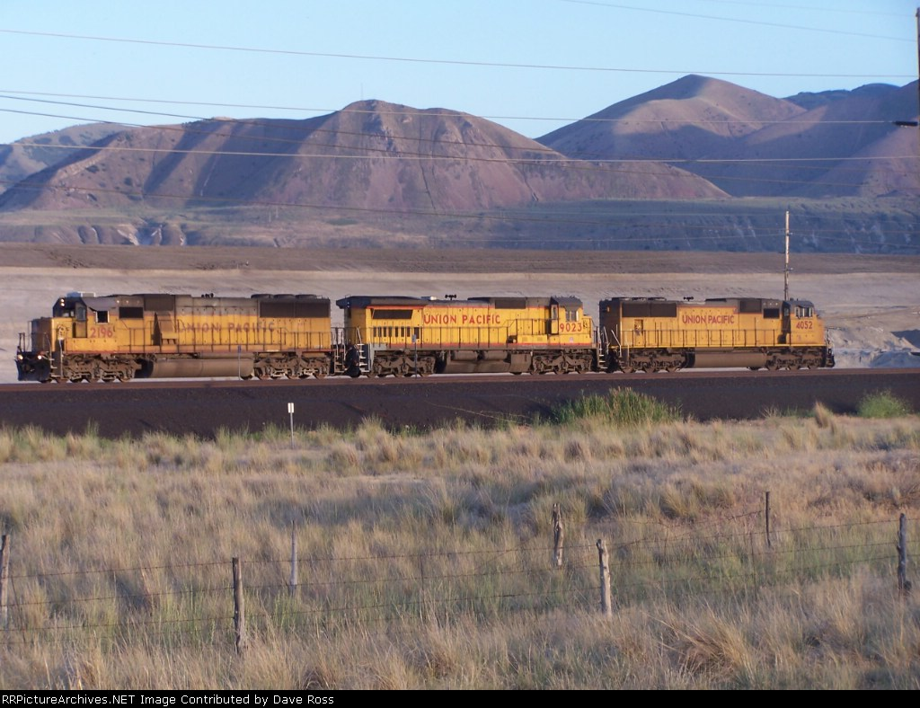 UP 2196, 9023, 4052 light helper set west of Salt Lake City