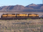 UP 2196, 9023, 4052 light helper set west of Salt Lake City