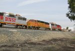 BNSF 100, 157, and 120 coming through Claremont on their way back from the brewery