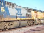 Blurry shot of CSX 353