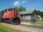 CN 5699 passing the Depot