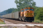 BNSF 8919 - 8891, EMD SD70MACs, are working as DPU remotes on westbound coal mtys
