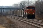 BNSF 5895 - 6219 work eastbound coal loads