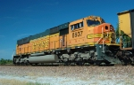 BNSF 8937 works as the DPU remote unit shoving an eastbound Wisconsin Public Service coal train