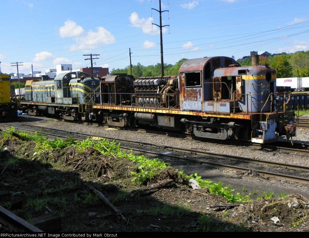 Delaware Lackawana 134 and CNJ 1554