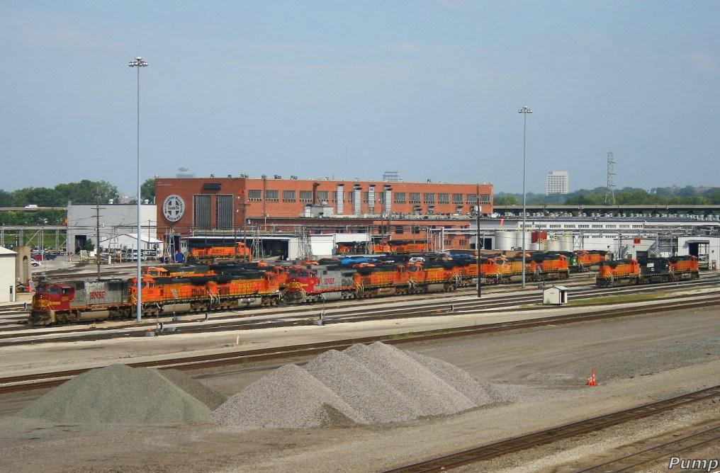 BNSF Locomotive Shop in Argentine Yard