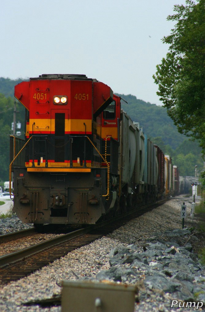 Southbound KCS Manifest Train DPU