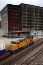 Eastbound UP Intermodal Train DPU
