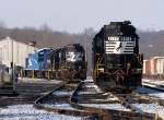 Switchers at Snowy Abrams Yard