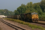 UP 7050 leads an eastbound down the Jeff City Sub.
