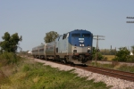 AMTK 31 heads towards St. Louis at track speed.