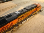 BNSF 7210 with its stack capped