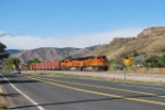 BNSF 7256 Is Point On A East Bound Beer Train