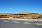 BNSF 7256, 7240, 2311 East Bound Beer Train From Golden