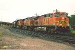 Southbound grain train