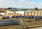 Metra trains awaiting the evening rush