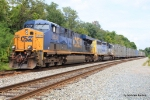 CSX 5335 heads up a mixed bag of of trash & genl merchandise on No.3 track that drops down out of the Mt.Claire Yard
