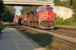 CN Freight Coming Past Woodstock Station