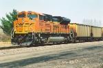 Empty coal train waits