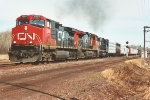 Southbound manifest pulls out of siding