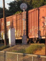 Box Cars and a Signal