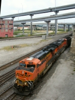 BNSF 5765 entering the W. Bottoms