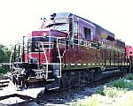 Engine and cars on siding
